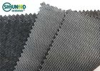 Black Color Woven Interlining Napping PA Adhesive Tricot Interlining For Suit And Jacket