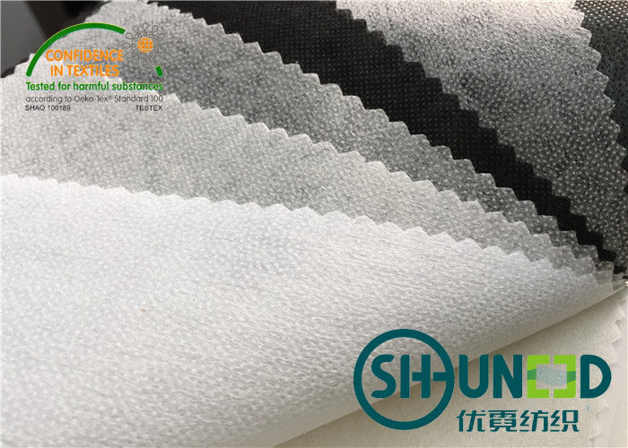 Interfacing Fabrics Fusible Non Woven Interlining With Double Dot PA Coating