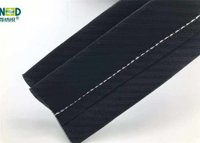 Custom Webbing Trouser Elastic Waistband Fabric 100% Polyester Material For Pants