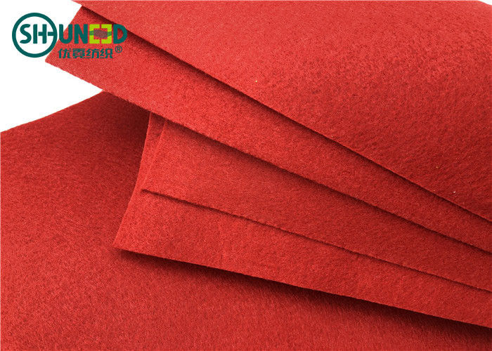 PES Needle Punch Felt Fabric Needle Punch Nonwoven For Decoration / Carpet