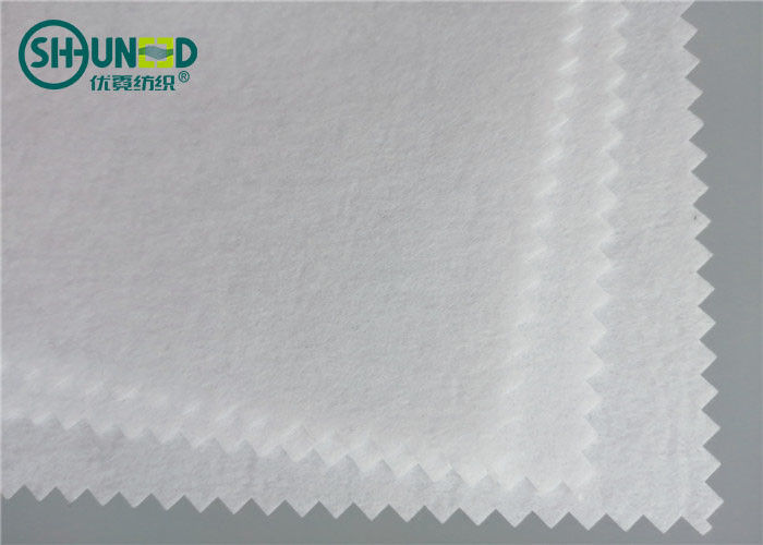 120gsm Polyester Non Woven Embroidery Backing Fabric Air Laid Cut Away Soft Rolls