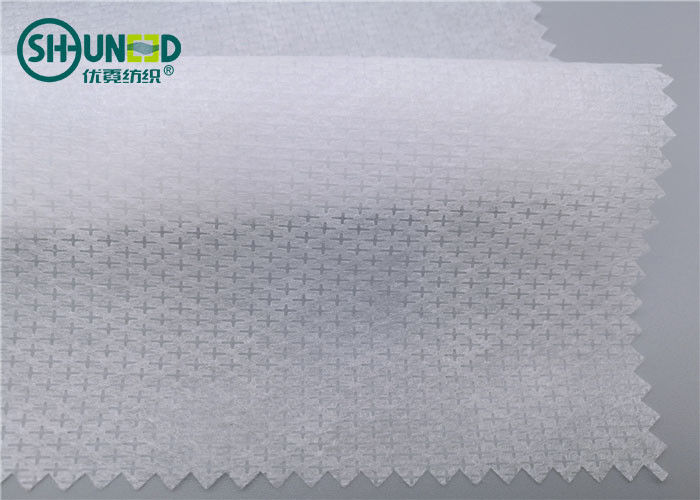 100% Nylon Non Woven Interlining Long Fiber Spunbond Rolls 50gsm Customized Pattern