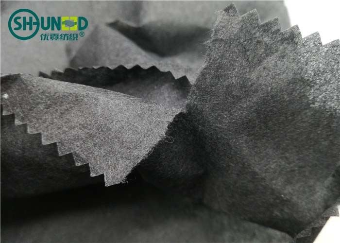 1040E Black tear away recycle cotton embroidery backing nonwoven interlining fabric